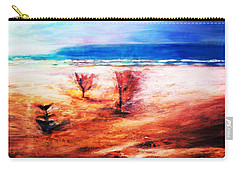 Carry-all Pouch featuring the painting Water And Earth by Winsome Gunning