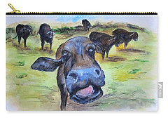Water Buffalo Kiss Carry-all Pouch
