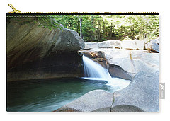 Carry-all Pouch featuring the photograph Water-carved Rock by Kerri Mortenson