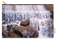 Carry-all Pouch featuring the photograph Water Cascade by Roberta Byram