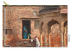 Carry-all Pouch featuring the photograph Water Delivery In Vrindavan by Jean luc Comperat