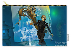 Carry-all Pouch featuring the digital art Water Dragon by Shadowlea Is