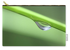 Carry-all Pouch featuring the photograph Water Droplet II by Richard Rizzo