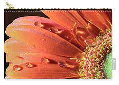 Water Drops On Colorful Flower Petals Carry-all Pouch