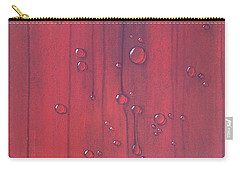 Water Drops On Red Carry-all Pouch