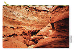 Carry-all Pouch featuring the photograph Water Holes Canyon  by Norman Hall