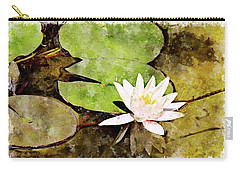Water Hyacinth Two Wc Carry-all Pouch by Peter J Sucy