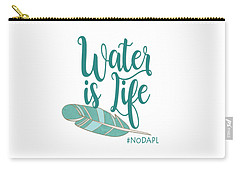 Carry-all Pouch featuring the digital art Water Is Life Nodapl by Heidi Hermes