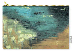 Carry-all Pouch featuring the painting Water Lilies At The Pond by Michal Mitak Mahgerefteh