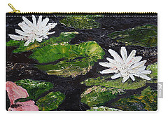 Carry-all Pouch featuring the painting Water Lilies I by Marilyn Zalatan