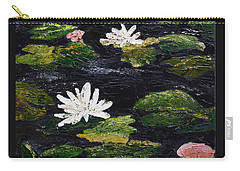 Carry-all Pouch featuring the painting Water Lilies IIi by Marilyn Zalatan