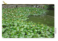 Water Lilies In The Moat Carry-all Pouch by Susan Lafleur