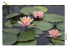 Carry-all Pouch featuring the photograph Water Lilies by Jessica Jenney