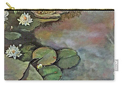 Carry-all Pouch featuring the painting Water Lilies Late Afternoon by Marlene Book