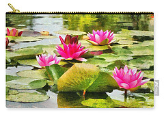 Water Lilies Carry-all Pouch by Maciek Froncisz