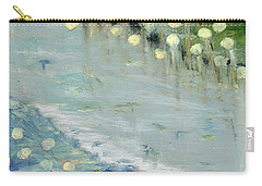 Carry-all Pouch featuring the painting Water Lilies by Michal Mitak Mahgerefteh