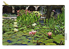 Carry-all Pouch featuring the photograph Water Lilies - Mission San Juan Capistrano by Glenn McCarthy Art and Photography
