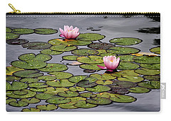 Carry-all Pouch featuring the photograph Water Lilies by Shirley Mitchell
