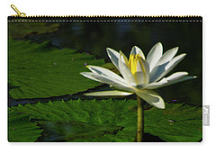 Carry-all Pouch featuring the photograph Water Lily 1 by Buddy Scott