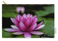 Water Lily After Rain Carry-all Pouch by Shelly Gunderson