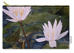 Carry-all Pouch featuring the painting Water Lily At Longwood Gardens by Laurie Rohner