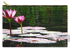 Carry-all Pouch featuring the photograph Water Lily by Greg Patzer