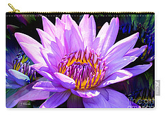 Water Lily In Purple Carry-all Pouch