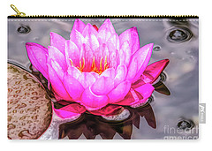 Water Lily In The Rain Carry-all Pouch