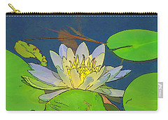 Carry-all Pouch featuring the digital art Water Lily by Maciek Froncisz