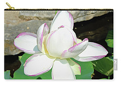Water Lotus Carry-all Pouch by Inspirational Photo Creations Audrey Woods
