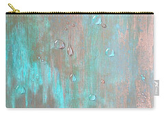 Water On Copper Carry-all Pouch by T Fry-Green