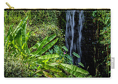 Carry-all Pouch featuring the photograph Water Over The Rocks by Ken Frischkorn