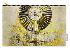 Carry-all Pouch featuring the photograph Water-pumping Windmill by Heiko Koehrer-Wagner