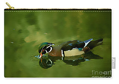 Male Wood Duck Water Reflections Carry-all Pouch