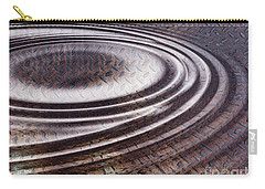 Carry-all Pouch featuring the digital art Water Ripple On Rusty Steel Plate  by Michal Boubin