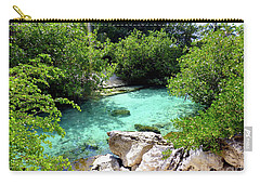 Carry-all Pouch featuring the photograph Water Shallows by Francesca Mackenney