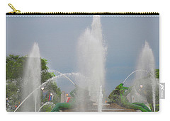 Water Spray - Swann Fountain - Philadelphia Carry-all Pouch by Bill Cannon