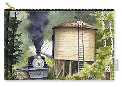 Carry-all Pouch featuring the painting Water Stop by Sam Sidders