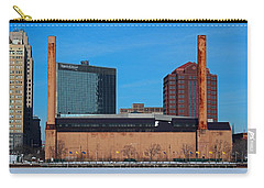 Carry-all Pouch featuring the photograph Water Street Steam Plant In Winter by Michiale Schneider