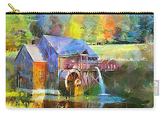 Water Wheel Cottage Carry-all Pouch by Wayne Pascall
