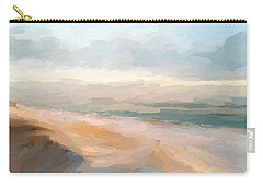 Watercolor Beach Abstract Carry-all Pouch by Anthony Fishburne