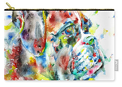 Watercolor Boxer Carry-all Pouch