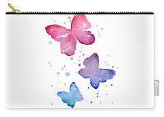 Watercolor Butterflies Carry-all Pouch