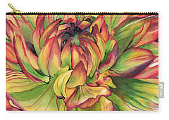 Carry-all Pouch featuring the painting Watercolor Dahlia by Angela Armano