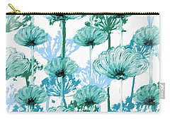 Carry-all Pouch featuring the digital art Watercolor Dandelions by Bonnie Bruno