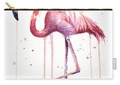 Watercolor Flamingo Carry-all Pouch