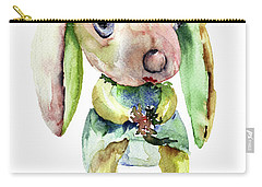 Watercolor Illustration Of Rabbit Carry-all Pouch