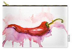 Watercolor Illustration Of Red Hot Chili Pepper  Carry-all Pouch