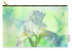 Carry-all Pouch featuring the photograph Watercolor Iris by Joan Bertucci