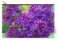 Carry-all Pouch featuring the painting Watercolor Lilac by Ivana Westin